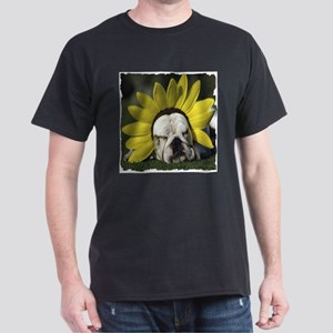 BULLDOG SUNFLOWER T-Shirt