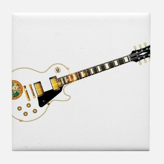Florida Flag Guitar Guitar Tile Coaster