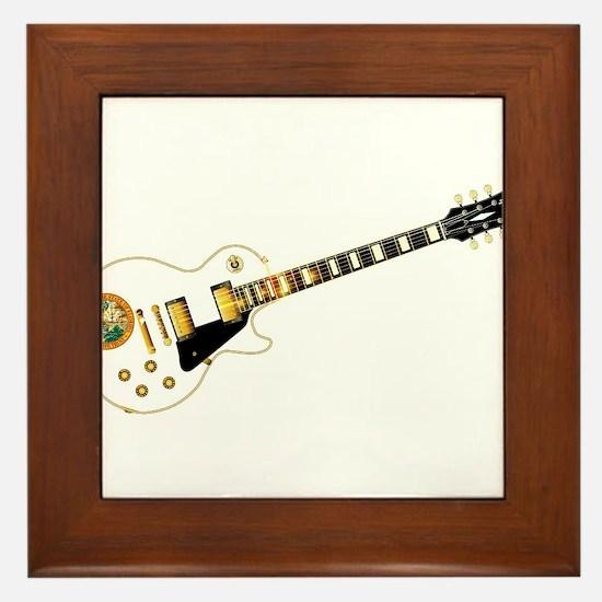 Florida Flag Guitar Guitar Framed Tile