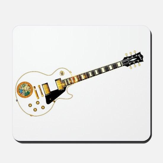 Florida Flag Guitar Guitar Mousepad