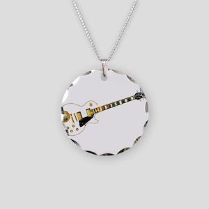 Florida Flag Guitar Guitar Necklace Circle Charm