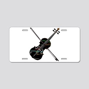 Country Fiddle Lazer Lights Aluminum License Plate