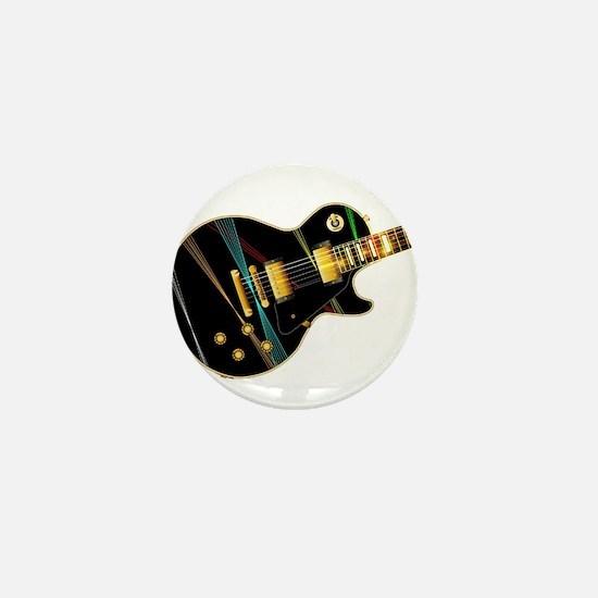 Lazer Beam Guitar Mini Button