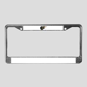 Lazer Beam Guitar License Plate Frame