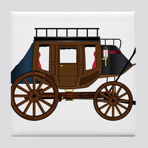 Western Stage Coach Tile Coaster