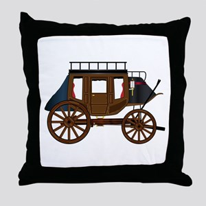Western Stage Coach Throw Pillow