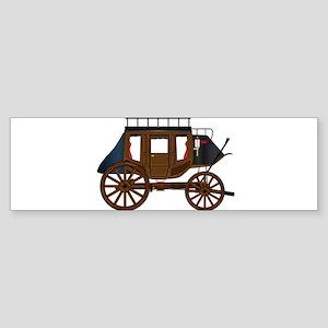 Western Stage Coach Bumper Sticker