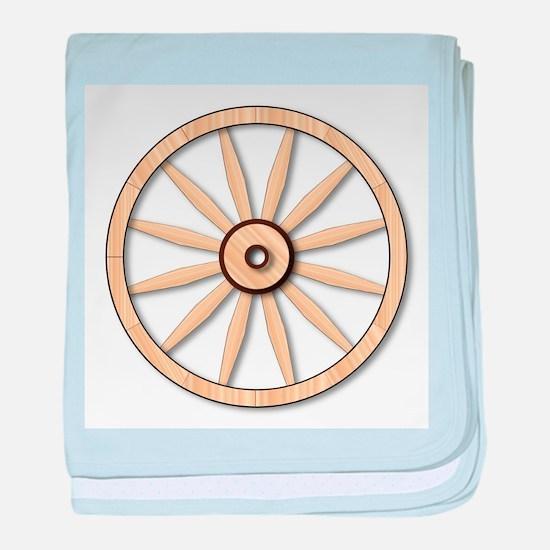 Light wagon Wheel baby blanket