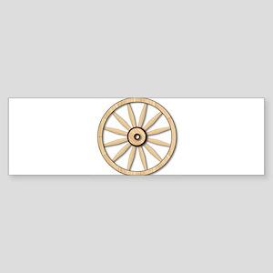 Light wagon Wheel Bumper Sticker