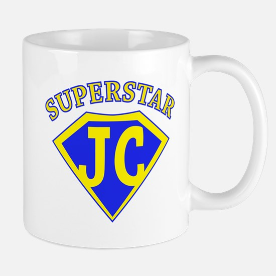 JC Superstar large blue/yellow Mugs
