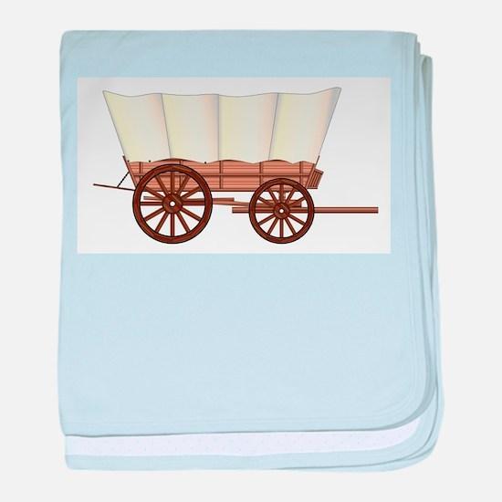 Covered Wagon Wheel baby blanket
