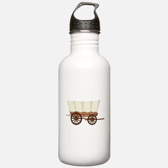 Covered Wagon Wheel Water Bottle