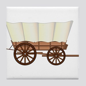 Covered Wagon Wheel Tile Coaster