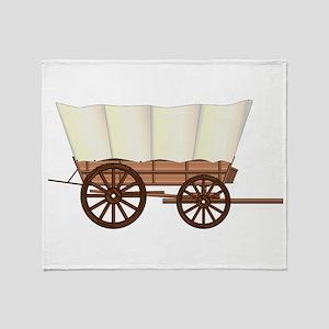 Covered Wagon Wheel Throw Blanket