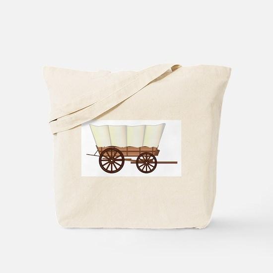 Covered Wagon Wheel Tote Bag