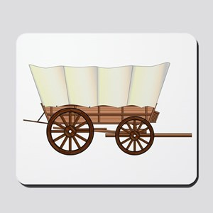 Covered Wagon Wheel Mousepad