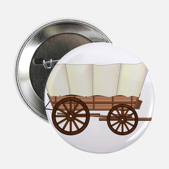 "Covered Wagon Wheel 2.25"" Button"