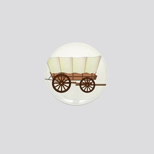 Covered Wagon Wheel Mini Button