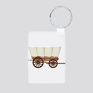 Covered Wagon Wheel Keychains
