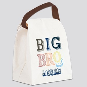 Big Brother Custom Name Canvas Lunch Bag