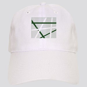 Green Criss Cross Halftone Cap