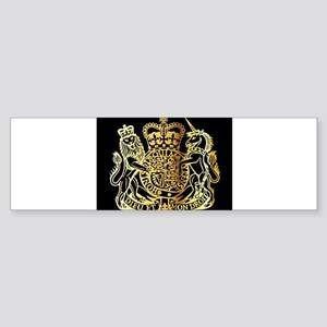 British Coat Of Arms Bumper Sticker