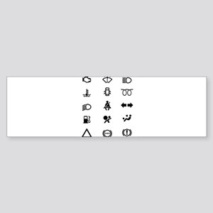 Vehicle Dash Warning Icons Bumper Sticker