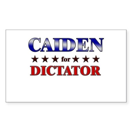 CAIDEN for dictator Rectangle Sticker