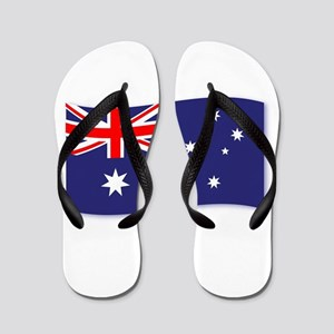 Flag of Australia Wave Flip Flops