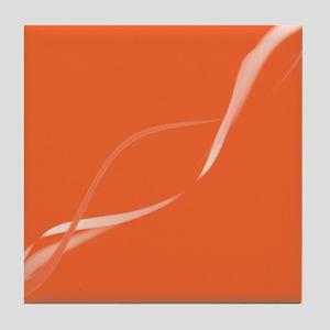 Ribbons In Orange Tile Coaster