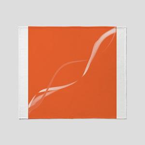 Ribbons In Orange Throw Blanket