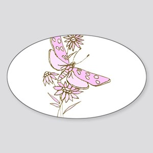 Summertime Pink Lemonade Dragonfly Coneflo Sticker