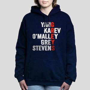 Grey's Anatomy Vertical. Women's Hooded Sweatshirt