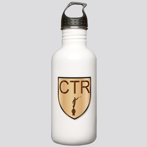 CTR Wooden Shield Stainless Water Bottle 1.0L