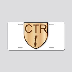 CTR Wooden Shield Aluminum License Plate