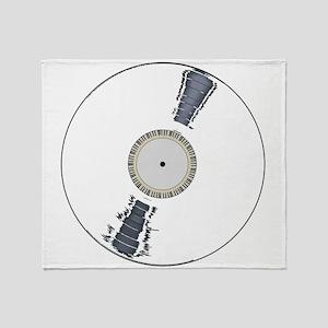 White Background Record Throw Blanket