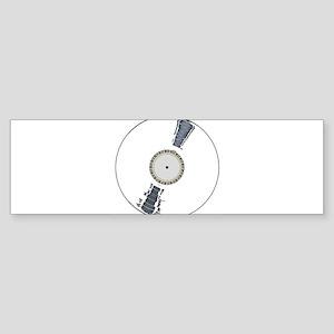 White Background Record Bumper Sticker