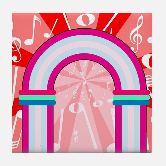 Musical Notes Archway Tile Coaster