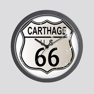 Carthage Route 66 Highway Sign Wall Clock