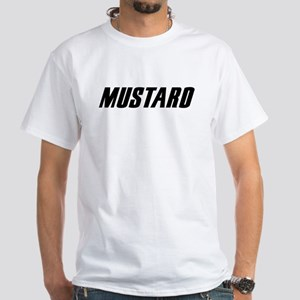 Mustard Or Pants White T-Shirt