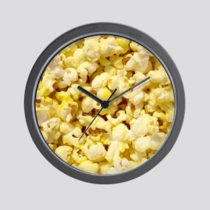 Popped Popcorn for Movie Lovers Wall Clock