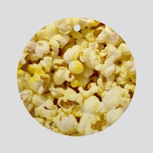 Popped Popcorn for Movie Lovers Round Ornament