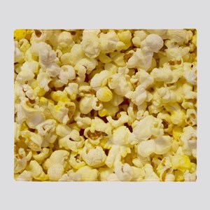 Popped Popcorn for Movie Lovers Throw Blanket
