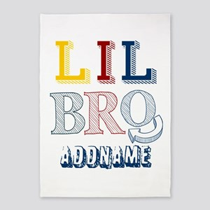 Little Brother Personalized Sketcy 5'x7'Area Rug