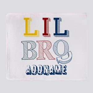 Little Brother Personalized Sketcy Throw Blanket