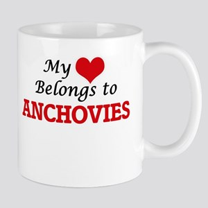 My Heart Belongs to Anchovies Mugs