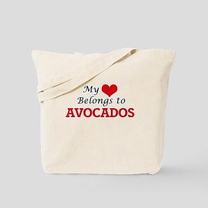 My Heart Belongs to Avocados Tote Bag