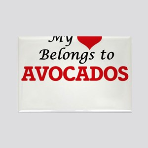 My Heart Belongs to Avocados Magnets