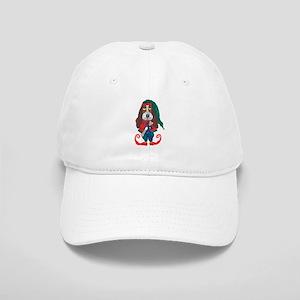 Basset Santa Helper Elf Baseball Cap