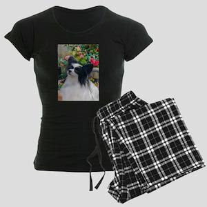 Papillon dog Women's Dark Pajamas